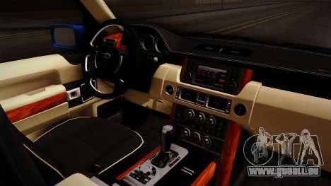 Range Rover 2008 für GTA San Andreas Innenansicht