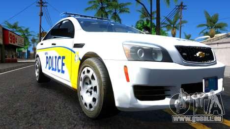 Chevy Caprice Metro Police 2013 für GTA San Andreas rechten Ansicht