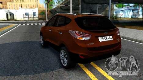 Hyundai ix35 Aze pour GTA San Andreas sur la vue arrière gauche