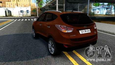 Hyundai ix35 Aze für GTA San Andreas zurück linke Ansicht
