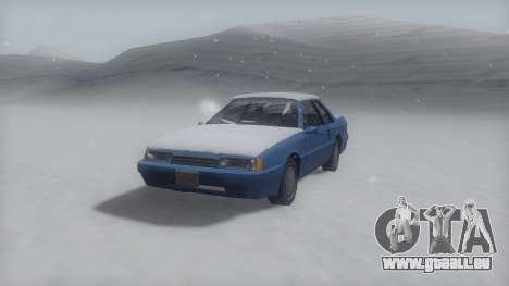 Previon Winter IVF pour GTA San Andreas sur la vue arrière gauche