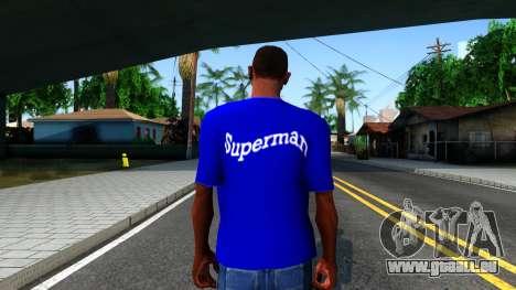 T-Shirt SuperMan für GTA San Andreas dritten Screenshot