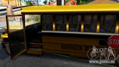 School Bus Driver Parallel Lines pour GTA San Andreas vue intérieure