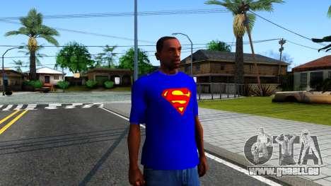 T-Shirt SuperMan für GTA San Andreas zweiten Screenshot