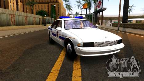 Chevy Caprice Hometown Police 1996 für GTA San Andreas Rückansicht