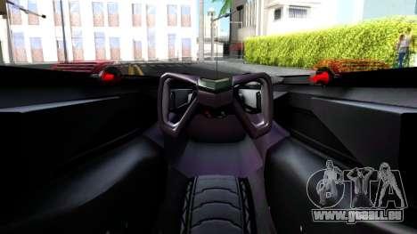 McLaren MP4 X 2016 pour GTA San Andreas vue arrière