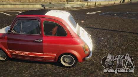 GTA 5 Fiat Abarth 595ss Racing ver arrière droit vue de côté
