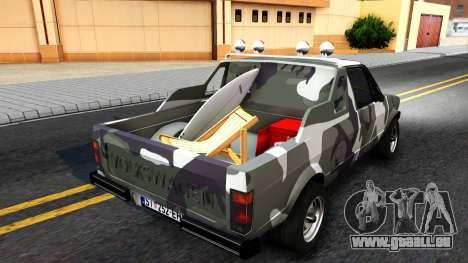 Volkswagen Caddy pour GTA San Andreas sur la vue arrière gauche