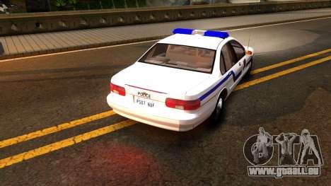 Chevy Caprice Hometown Police 1996 pour GTA San Andreas vue de droite