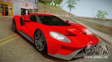 Ford GT 2017 No Stripe für GTA San Andreas