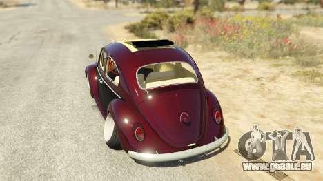 GTA 5 Volkswagen Beetle hinten links Seitenansicht