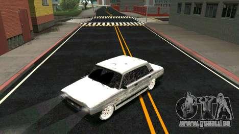 2107 Classique 2 Winter edition pour GTA San Andreas vue de dessus
