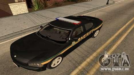 Dodge Charger County Sheriff für GTA San Andreas zurück linke Ansicht