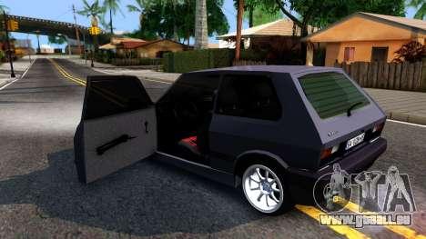 Yugo Koral 45 Sport Tuning pour GTA San Andreas vue intérieure