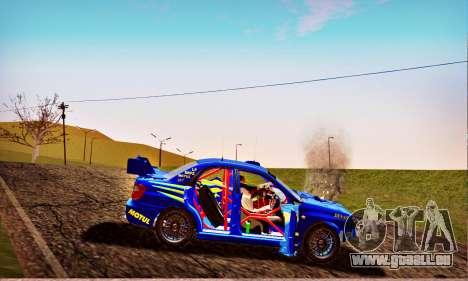 Subaru Impreza WRX STI WRC Rally 2005 für GTA San Andreas Unteransicht