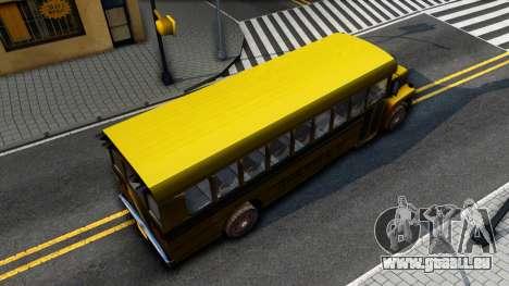 School Bus Driver Parallel Lines pour GTA San Andreas vue arrière