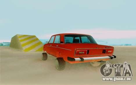 Phoenix ВАЗ 2106 pour GTA San Andreas sur la vue arrière gauche