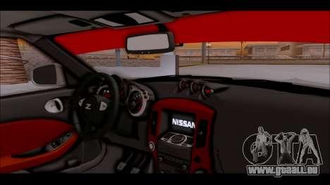 Nissan 370z Drift Edition für GTA San Andreas rechten Ansicht