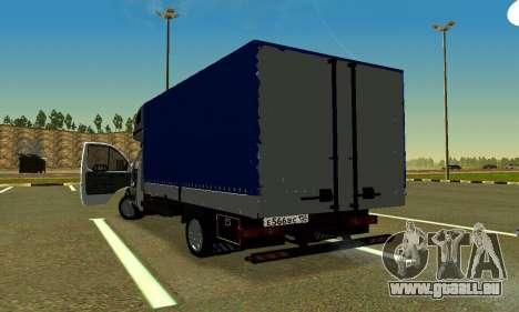 Gazelle 3302 für GTA San Andreas zurück linke Ansicht