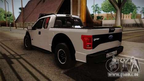 Ford Raptor pour GTA San Andreas laissé vue