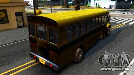School Bus Driver Parallel Lines pour GTA San Andreas sur la vue arrière gauche