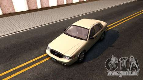 Ford Crown Victoria Unmarked 2009 pour GTA San Andreas vue arrière