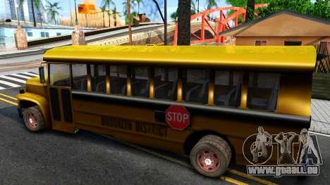 School Bus Driver Parallel Lines pour GTA San Andreas laissé vue