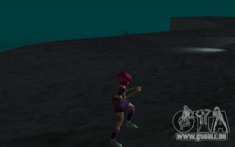 Tecna Rock Outfit from Winx Club Rockstars pour GTA San Andreas quatrième écran
