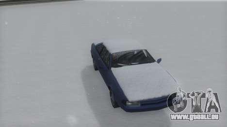 Cadrona Winter IVF pour GTA San Andreas sur la vue arrière gauche