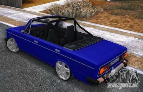 VAZ 2106 KBR pour GTA San Andreas sur la vue arrière gauche