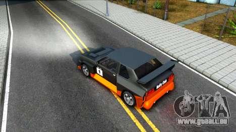 Rally Club pour GTA San Andreas vue intérieure