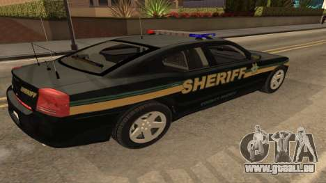 Dodge Charger County Sheriff für GTA San Andreas linke Ansicht