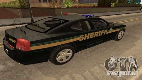 Dodge Charger County Sheriff pour GTA San Andreas laissé vue