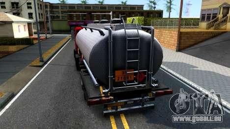 GTA V MTL Dune Oil Tanker für GTA San Andreas zurück linke Ansicht