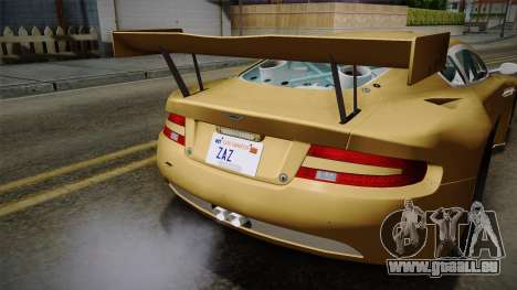 Aston Martin Racing DBRS9 GT3 2006 v1.0.6 YCH für GTA San Andreas Unteransicht