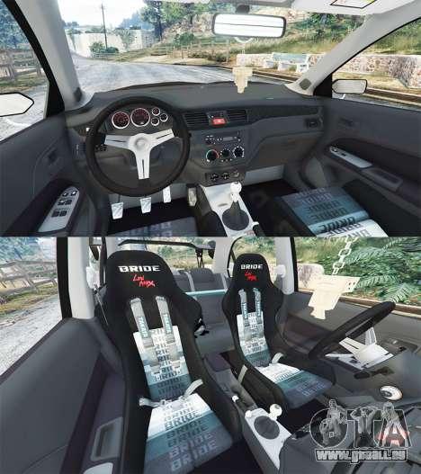 GTA 5 Mitsubishi Lancer Evolution IX Stormtrooper [r] vorne rechts Seitenansicht