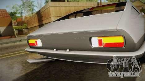 Maserati Ghibli v0.1 (Beta) pour GTA San Andreas sur la vue arrière gauche