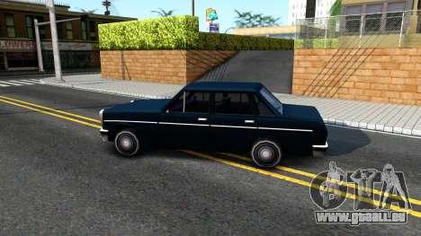 Perennial Sedan pour GTA San Andreas laissé vue