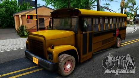 School Bus Driver Parallel Lines pour GTA San Andreas