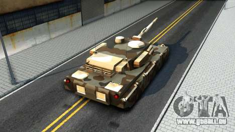 Rhino GTA V pour GTA San Andreas vue intérieure