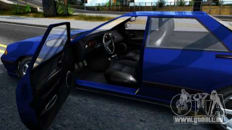 GTA V Zirconium Stratum Sedan pour GTA San Andreas vue intérieure