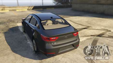 GTA 5 Kia Cadenza 2017 arrière vue latérale gauche