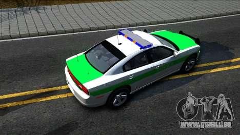 Dodge Charger German Police 2013 pour GTA San Andreas vue arrière