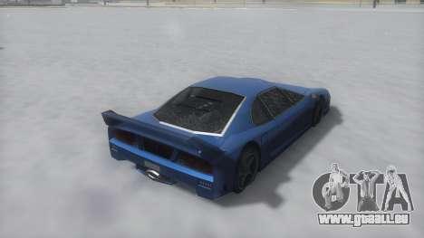 Turismo Winter IVF pour GTA San Andreas vue de droite