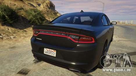 GTA 5 Dodge Charger 2016 hinten links Seitenansicht