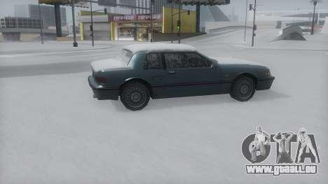 Bravura Winter IVF pour GTA San Andreas sur la vue arrière gauche