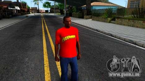 Hulk Hogan T-Shirt pour GTA San Andreas deuxième écran