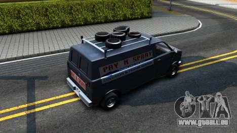 GTA V Burrito with GTA SA Ads pour GTA San Andreas vue arrière