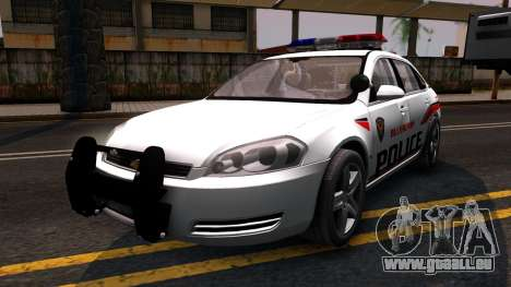 Chevy Impala Blueberry PD 2009 pour GTA San Andreas
