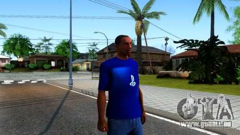T-Shirt PS4 pour GTA San Andreas deuxième écran